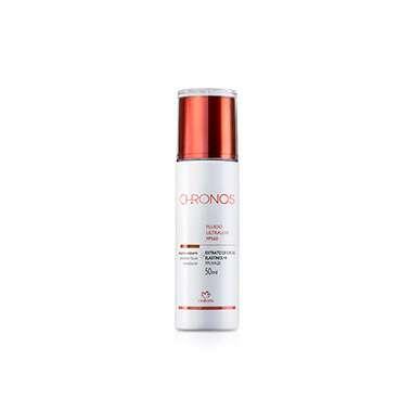 Resenha Natura Fluido Protetor Facial Ultraleve Tonalizante FPS60 Chronos - 50ml - Médio/Escuro
