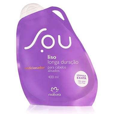 Resenha Natura Condicionador Liso Longa Duração SOU - 400 ml