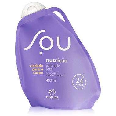 Resenha Natura Desodorante Hidratante Corporal Pele Seca SOU - 400 ml