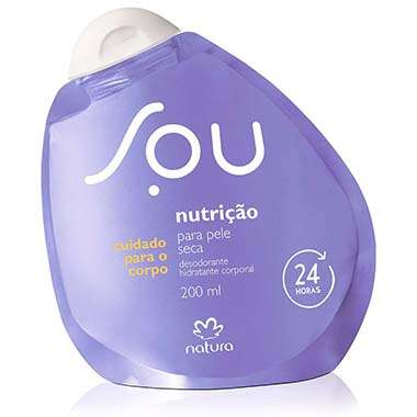 Resenha Natura Desodorante Hidratante Corporal Nutrição para Pele Seca SOU - 200ml
