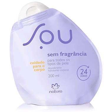 Resenha Natura Desodorante Hidratante Corporal Sem Fragrância SOU - 200ml