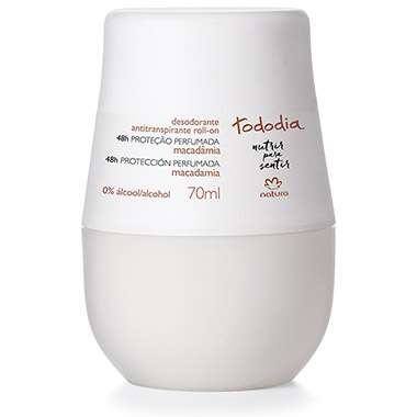 Resenha Natura Desodorante Antitranspirante Roll-on Macadâmia Tododia Feminino - 70ml