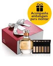 Presente Exclusivo Online Natura Una - Palette de Sombras Clássico + Deo Parfum + Embalagem
