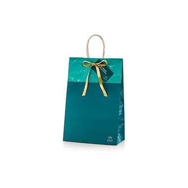 Resenha Natura Embalagem de Presente Sacola - Verde