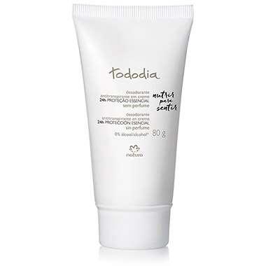 Resenha Natura Desodorante Antitranspirante em Creme Sem Perfume Tododia - 80g