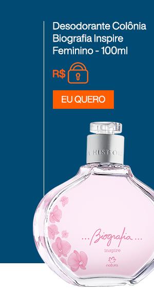 Desodorante Colônia Biografia Inspire Feminino - 100ml. Eu Quero