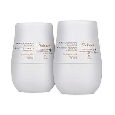 Kit Desodorante Roll-on Macadâmia Tododia